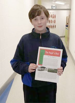 December 2013 Editor of The Pupil's Post - Eoin