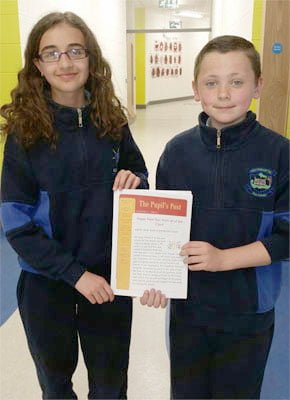 January 2014 Editor of The Pupil's Post - Marianne & Shane
