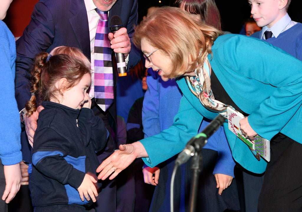 The minister meets some of our youngest students